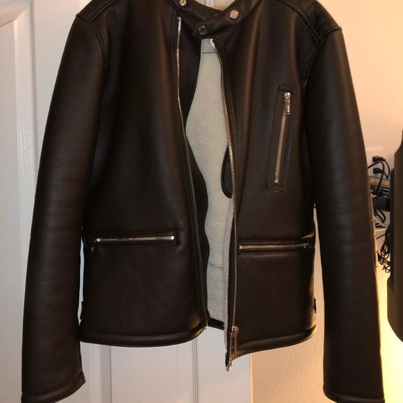Zara Jackets Coats Mens Leather Jacket Poshmark